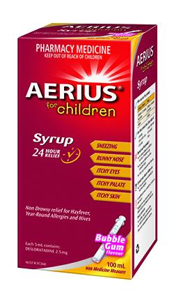 Aerius Children's Syrup 250px