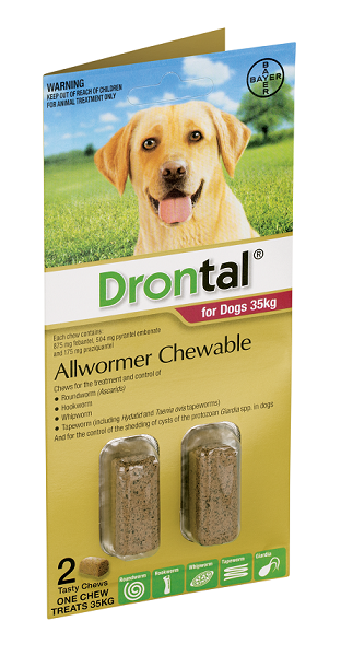 Drontal® Allwormer Chewable for Large Dogs